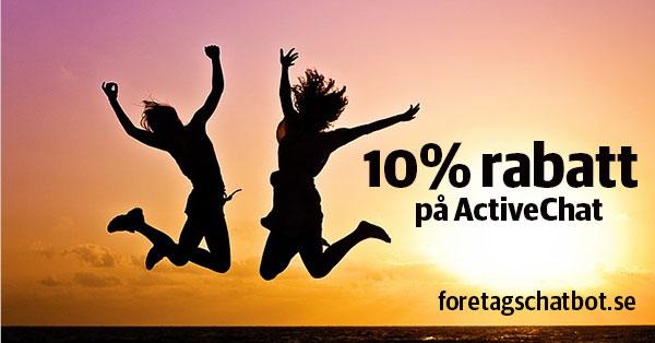 10% rabatt på ActiveChat