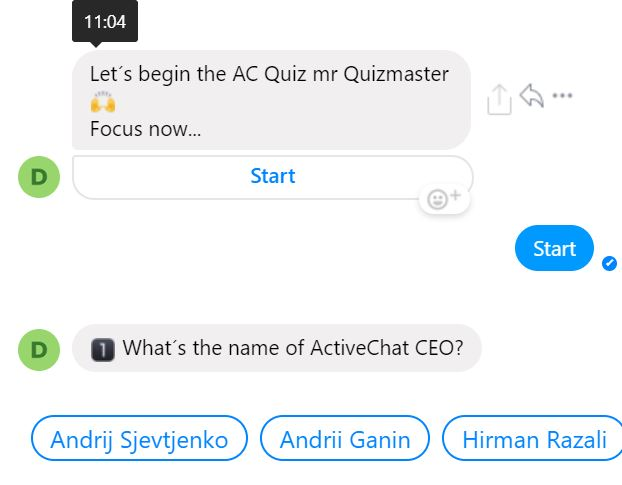 How to create a quizbot with Activechat