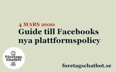 Guide till Facebooks nya plattformspolicy 4 mars 2020