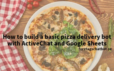 How to build a basic pizza delivery bot with ActiveChat and Google Sheet